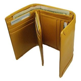 Castello Italian Leather Tri-Fold Wallet