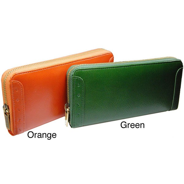 a1f0ba4720a8 Shop Castello Italian Leather Zip Around Long Wallet - Free Shipping ...
