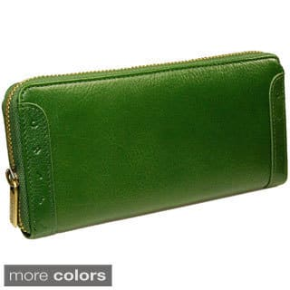 Castello Italian Leather Zip Around Long Wallet|https://ak1.ostkcdn.com/images/products/8572935/Castello-Italian-Leather-Zip-Around-Long-Wallet-P15847411.jpg?impolicy=medium