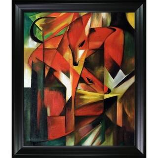 Franz Marc 'The Fox' Hand Painted Framed Canvas Art