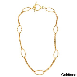 Simon Frank 20-inch Brass Beaded Oval and Round Cosmo Link Chain