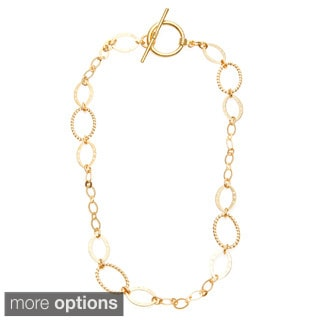 Simon Frank Brass 18-inch Delicate Oval Link Ashanti Chain Necklace