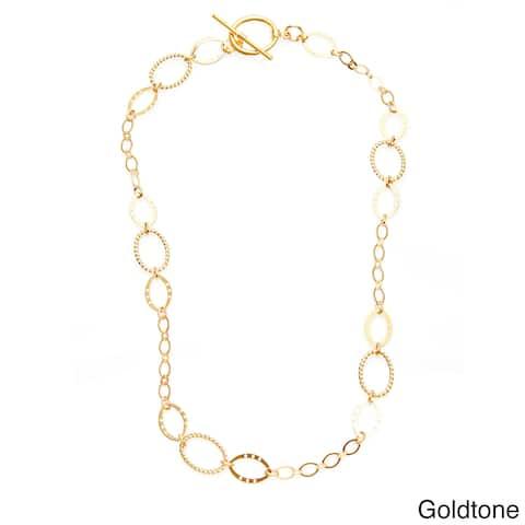 Simon Frank 20-inch Brass Oval Link Ashanti Chain Necklace