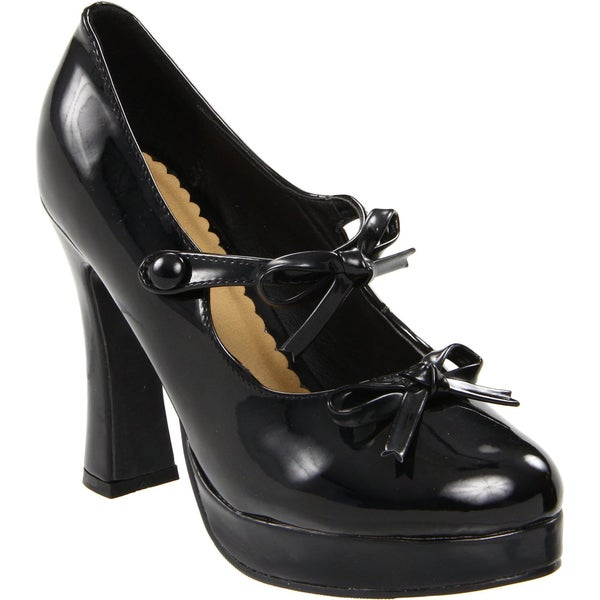 Ellie Women's '425-Molly' 4-inch Chunky Heel Mary Jane Pumps