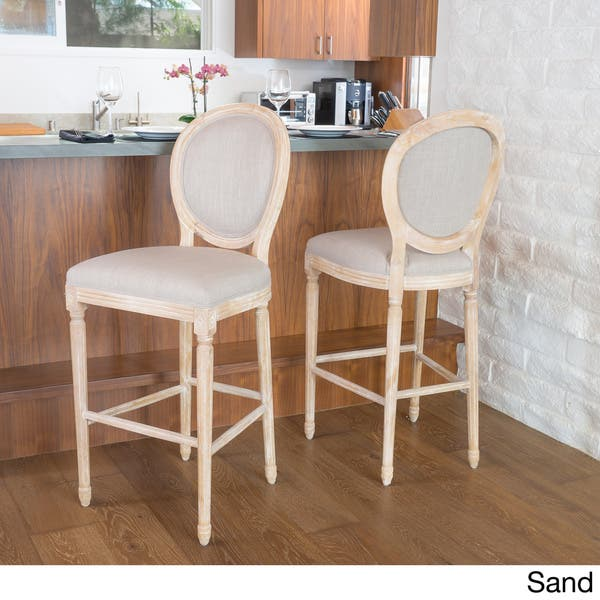 Shop Queen Anne Desk Chair Set Free Shipping Today >> Shop Queen Anne 30 Inch Fabric Bar Stool By Christopher
