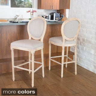 Queen Anne Fabric Bar Stool by Christopher Knight Home