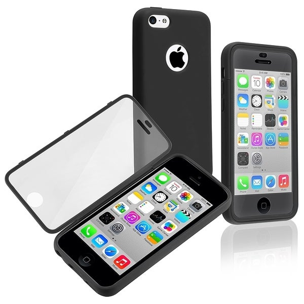 INSTEN Black/ Clear Book-style TPU Rubber Phone Case Cover for Apple iPhone 5C