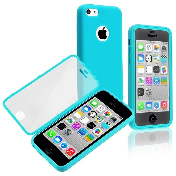 ... Blue/ Clear Book-style TPU Rubber Phone Case Cover for Apple iPhone 5C
