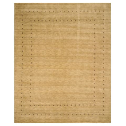 Handmade Wool Beige Traditional Tribal Lori Baft Rug - 8' x 10'