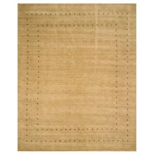 Handmade Wool Beige Traditional Tribal Lori Baft Rug - 8' x 10'