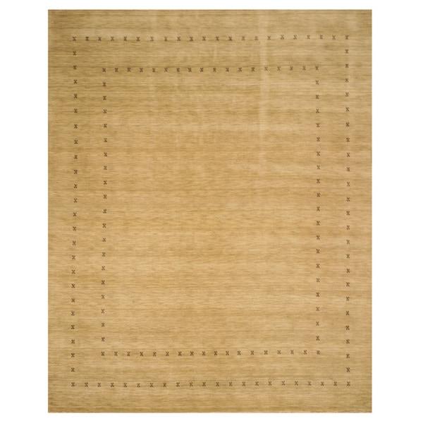 Handmade Wool Beige Traditional Tribal Lori Baft Rug (8' x 10') - 8' x 10'