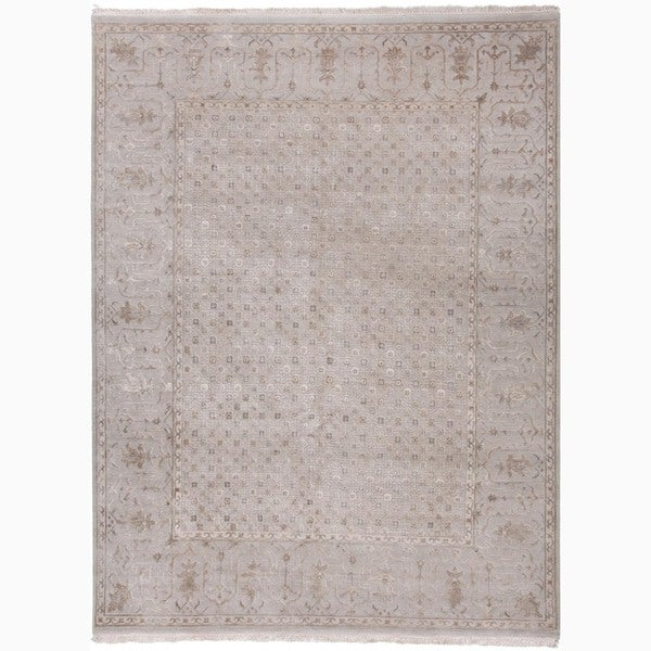 Hand-Knotted Oriental Gray/ Silver Area Rug - 2' x 3'