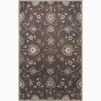 Savani Handmade Floral Gray/ Tan Area Rug (8' X 10') - 8x10