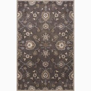 Savani Handmade Floral Gray/ Tan Area Rug (2' X 3') - 2' x 3'
