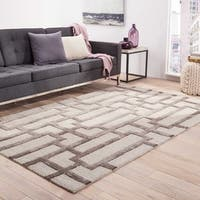 Alden Handmade Trellis Light Gray Area Rug - 8 x 11