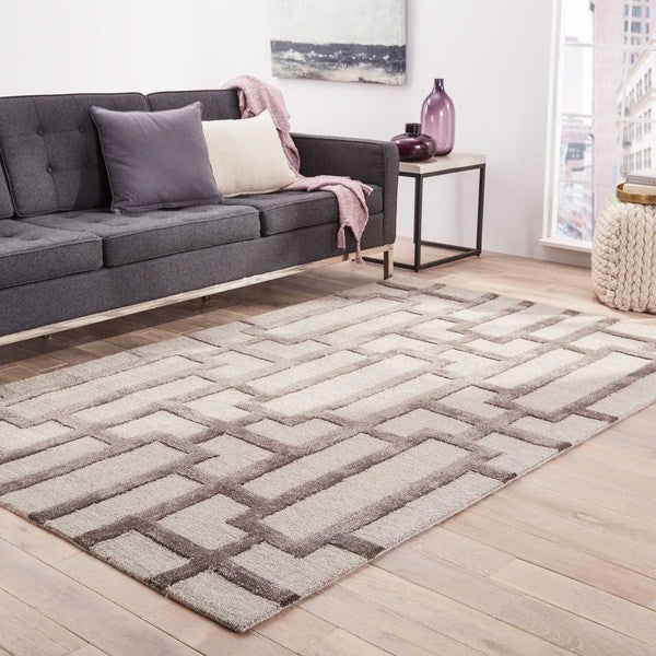Alden Handmade Trellis Light Gray Area Rug 9 X27 6 X 13