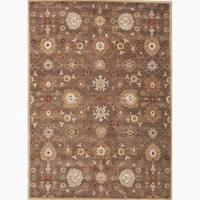 Savani Handmade Floral Brown/ Multicolor Area Rug (8' X 10') - 8 x 10