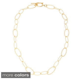 Simon Frank Apollo Link 14k Gold or Platinum based Rhodium Overlay Necklace