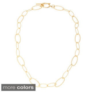 Simon Frank Apollo Link 14k Gold or Platinum based Rhodium Overlay Necklace (5 options available)