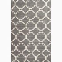 Grant Handmade Trellis Gray/ White Area Rug (2' X 3')