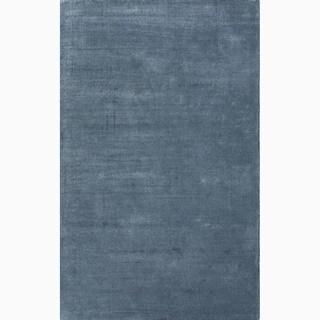 Minke Handmade Solid Blue Area Rug (5' X 8')