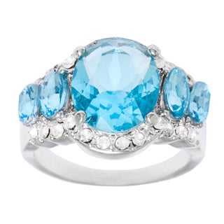 Simon Frank 5-stone Aquamarine Oval Ring