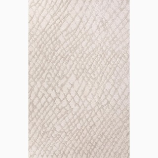 Amalfi Handmade Abstract Cream/ Gray Area Rug (2' X 3')