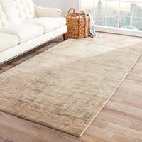 Raynor Handmade Abstract Beige/ Silver Area Rug - 8' x 10'