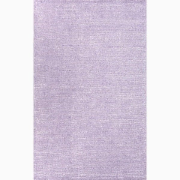 Handmade Solid Purple Area Rug - 5' x 8'