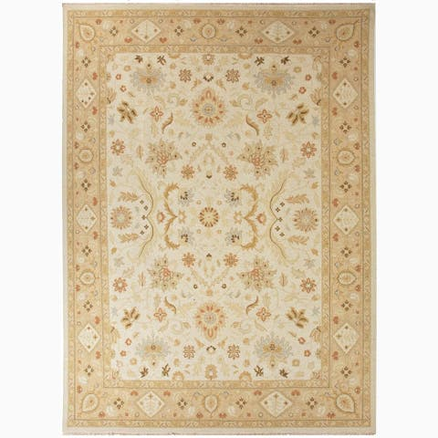 Kamaria Hand-Knotted Floral Area Rug
