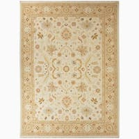 Hand-Knotted Floral White Area Rug (8' X 10') - 8' x 10'
