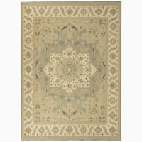 Hand-Knotted Floral Blue Area Rug (6' X 9') - 6' x 9'