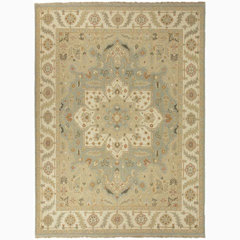 Hand-Knotted Floral Blue Area Rug (2' X 3') - 2' x 3'
