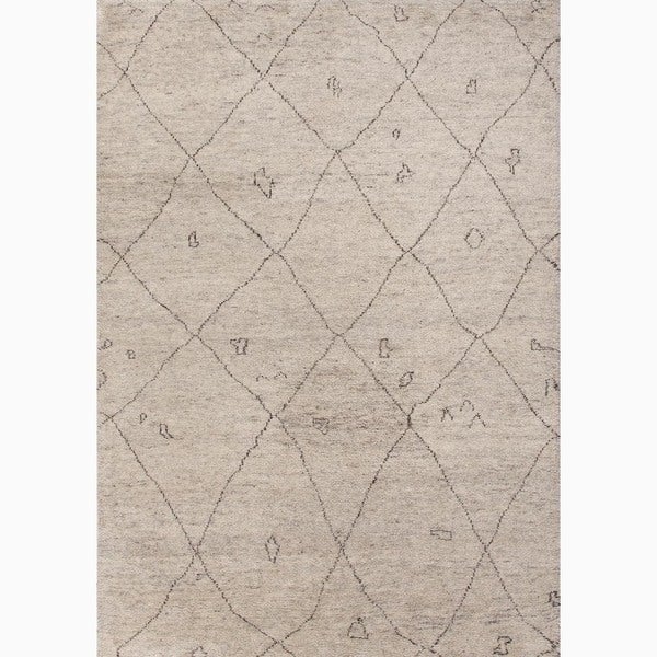 Amasya Hand-Knotted Geometric Cream/ Brown Area Rug (8' X 10')