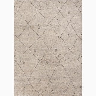 Jaipur Living Hand-Knotted Ivory/ Brown Wool Textured Rug (8x10)