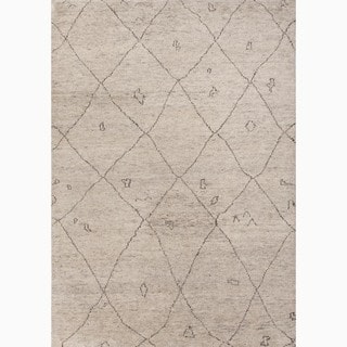 Amasya Hand-Knotted Geometric Cream/ Brown Area Rug (9' X 12')|https://ak1.ostkcdn.com/images/products/8574026/P15847990.jpg?impolicy=medium