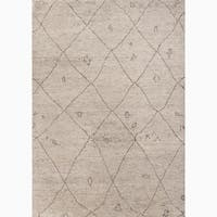 Amasya Hand-Knotted Geometric Cream/ Brown Area Rug (9' X 12')
