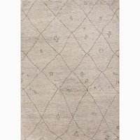 Amasya Hand-Knotted Geometric Cream/ Brown Area Rug (5' X 8')