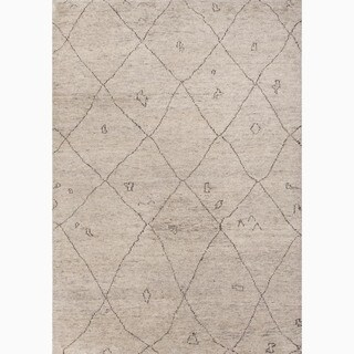 Jaipur Living Hand-Knotted Ivory/ Brown Wool Textured Accent Rug (2x3)