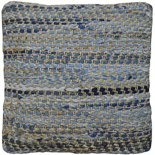 Blue Jean & Hemp Square Throw Pillow