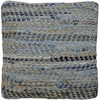 "18"" Blue Jean & Hemp Square Throw Pillow"
