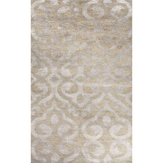 Jaipur Living Hand-Knotted Heritage Taupe/Gray Damask Rug Rug (2' x 3')