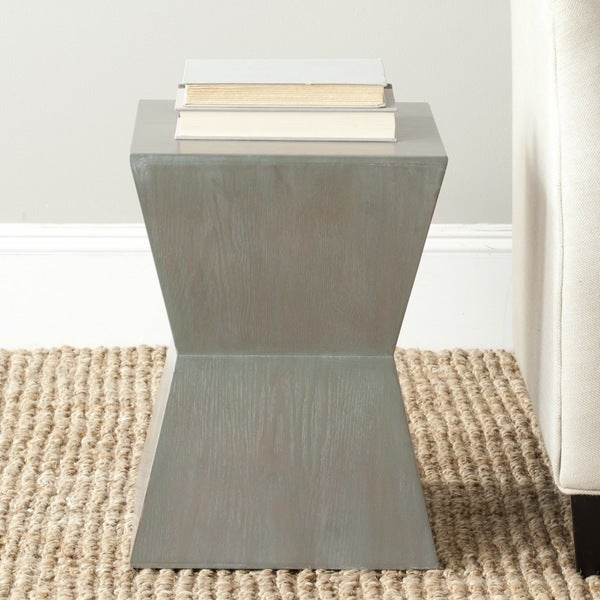 Shop Safavieh Lotem Ash Grey Accent Table Free Shipping