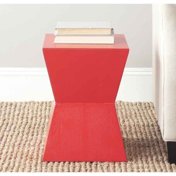 Shop Safavieh Lotem Hot Red Accent Table On Sale Free