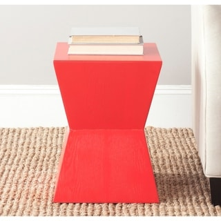 "Safavieh Lotem Hot Red Accent Table - 13"" x 13"" x 17.9"""