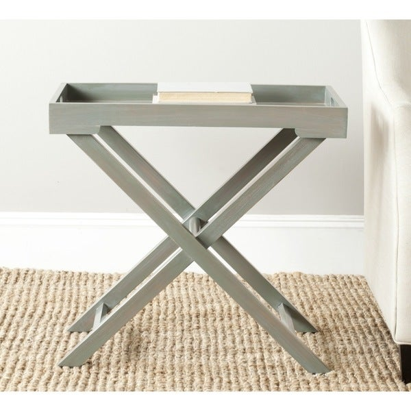 Safavieh Leo Ash Grey Accent Table Free Shipping Today