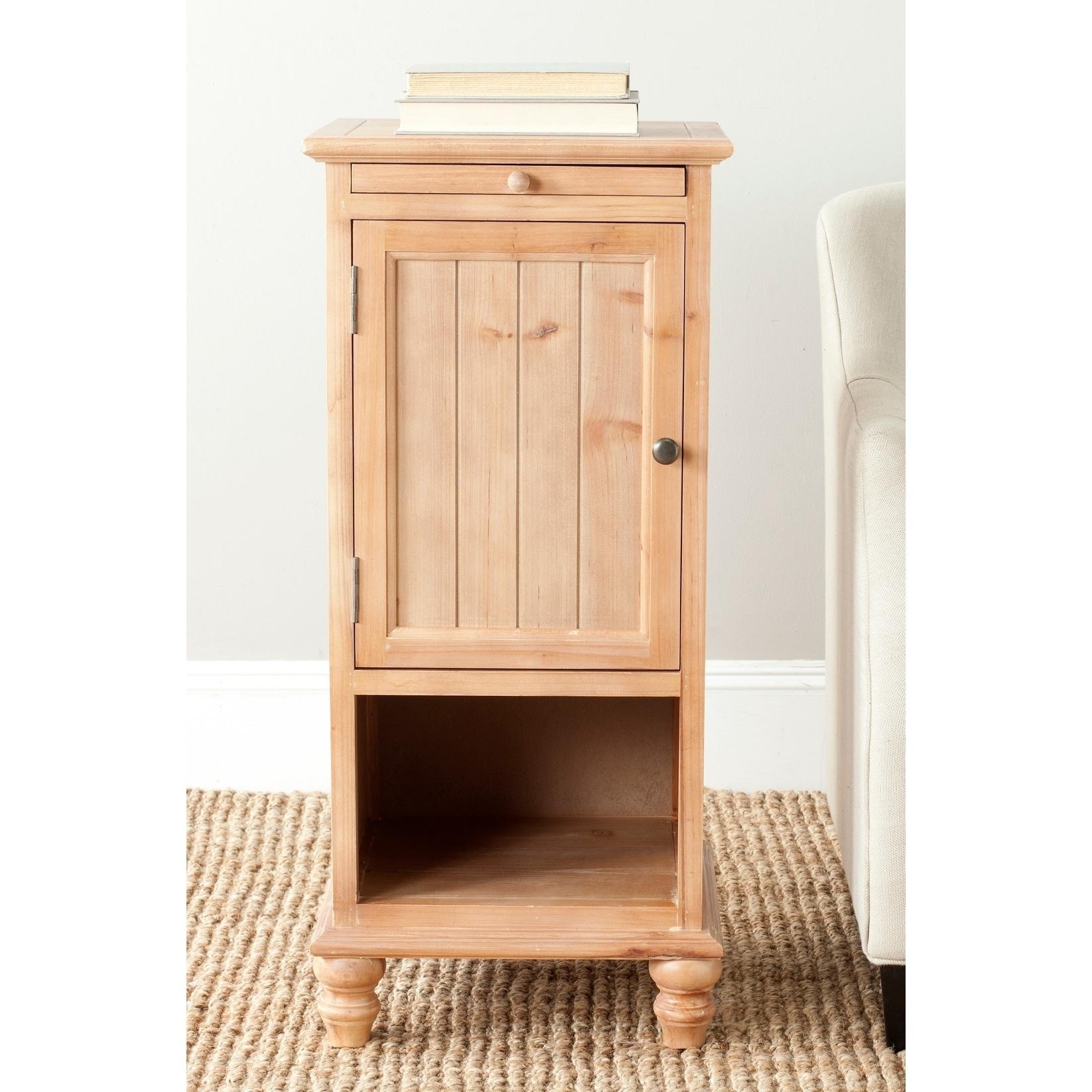 Safavieh Jezabel End Honey Nature Storage Table (AMH6633B...