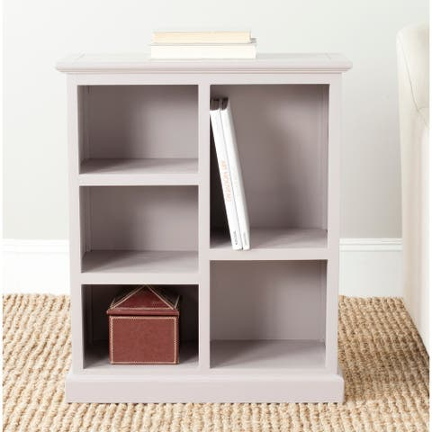 "Safavieh Maralah Grey Overcast Bookcase - 25"" x 10.6"" x 30.1"""