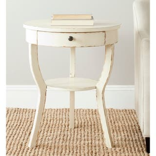 safavieh kendra distressed vanilla end table - Distressed End Tables
