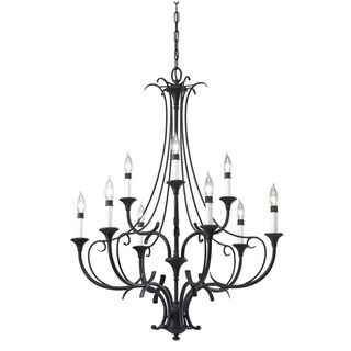 Peyton 9-light Black Chandelier
